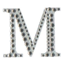 Large Diamante Letter Sticker M