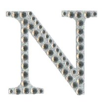Large Diamante Sticker Letter N