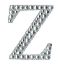 Large Diamante Letter Sticker Z