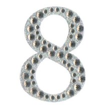Large Diamante Number Sticker 8