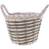 Wicker Basket Grey 25cm Round