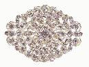 Diamante wedding brooch 45 x 63mm