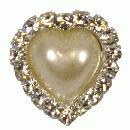 3 x small pearl brooch 22mm