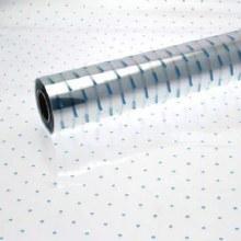 Cellophane florist wrap baby blue dots 80cm x 100m