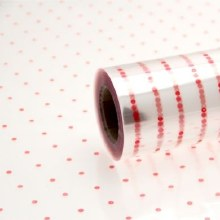 Cellophane wrap red dots 80cm x 100m