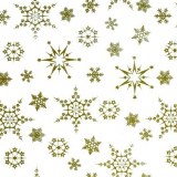 Cellophane snowflakes gold 80cm x 100m