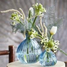 Eldora Glass Vase Blue 8x8x9cm