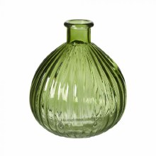 Eldora Glass Vase Green 8x8x9cm