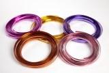 Lavender flat aluminium florist wire