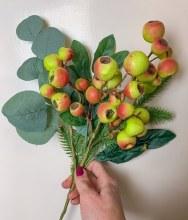 """Artificial Berry Stem Green 17"""""""