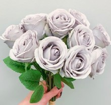 Closed Rose BunchGrey/ Lilac x 10 stems