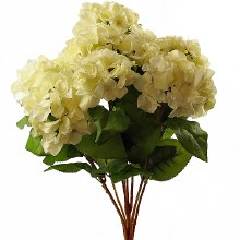 Artificial Hydrangea bunch cream x 10 stems