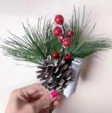 Christmas Pick Berry/ Cone x 6pcs