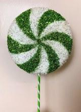 Christmas Lollipop Stem Green & White Large 20cm x 60cm