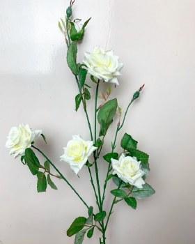 Single stem ivory rose flower height 80cm
