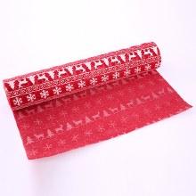 Nordic Christmas Burlap Wrap 36cm x 5yds