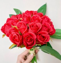 Artificial Bud Rose Red x20