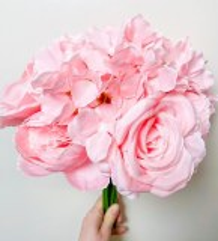 Artificial Rose, Hydrangea & Peony Bunch