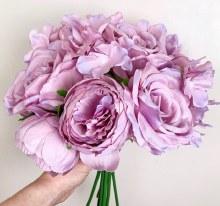 Artificial Rose & Hydrangea Bunch Lilac