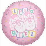 It's A Girl Foil Pink Balloon 18""