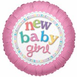 Baby Girl Foil Balloon 18""
