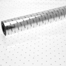 Florist Cellophane Wrap Silver Dot 80cm x 100m