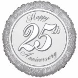 Happy 25th Wedding Anniversary Foil Balloon 18 inch