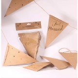 Wedding Bunting Just Married Kraft