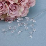 Clear Diamante  on Silver wire