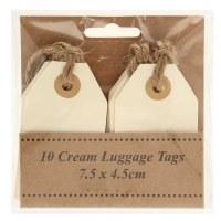Wedding cream name tags x 10pcs 7.5cm x 4.5cm