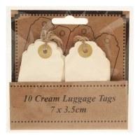 Wedding kraft name tags x 10pcs 7 x 3.5cm