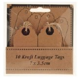 Wedding kraft name tags x10pcs 7x3.5cm