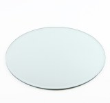 Bevelled edge round mirror plate, 25cm