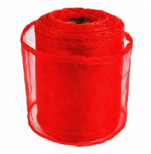 Red organza ribbon 7cm x 10yards