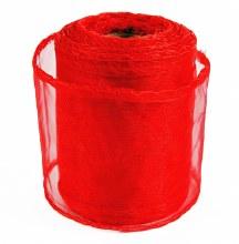Red organza ribbon 7cm x 10yards
