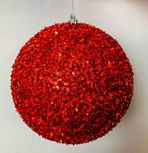 Christmas Bauble Red Large 15cm