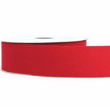 Red flocked fabric ribbon, 1.5 in x 25m