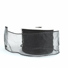 "Black Wired Edge Organza Ribbon 2.5"" x 10Y"