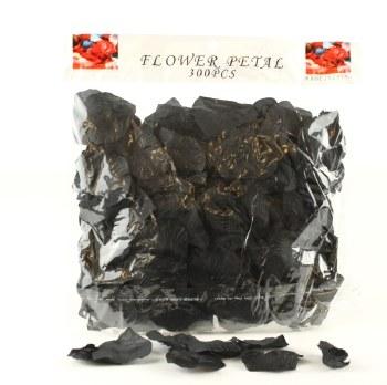300 x Black wedding rose petals