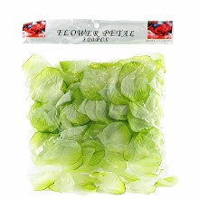 300 x Lime green wedding rose petals