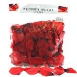 300 x Red wedding rose petals