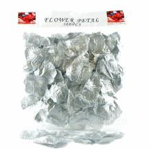 300 x metalic silver wedding rose petals