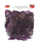 300 x Dark purple wedding rose petals