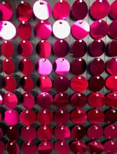 Sequin Wall Panel Hot Pink 30cm