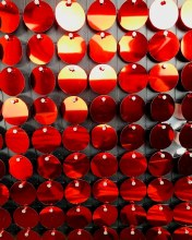 Sequin Wall Panel 30cm Red