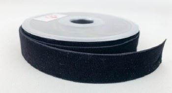Velvet Ribbon Black 25mm x 9m