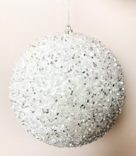 Christmas Bauble White Large 15cm