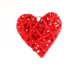 Wicker heart small