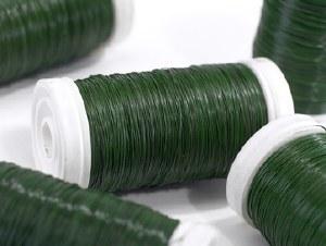 Wire reel green 26swg. 0.46mm
