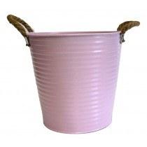 Zinc Pink Planter 23cm x 22cm x 17cm
